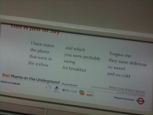 Underground poem